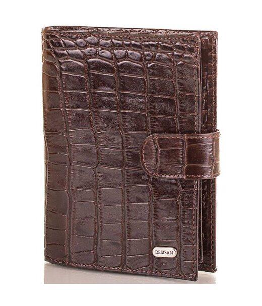 Чоловічий шкіряний гаманець з органайзером для документів DESISAN (ДЕСІСАН) SHI072