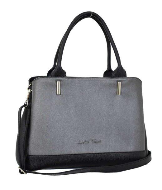 627 сумка чорний срібло Lucherino