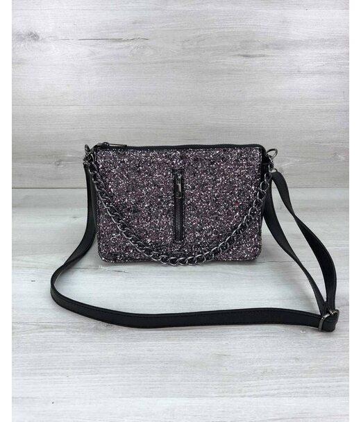Стильна сумка-клатч Tina зі вставкою блиск WeLassie