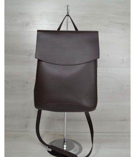 Молодежный сумка-рюкзак шоколадногоо цвета WeLassie