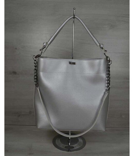 Сумка - ланцюжок срібного кольору (нікель) WeLassie