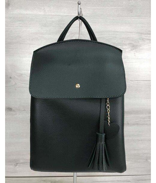 Молодіжний сумка-рюкзак Серце зеленого кольору WeLassie