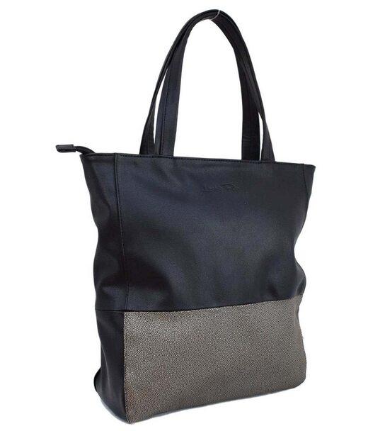 291 сумка черная серебро тисненное Lucherino